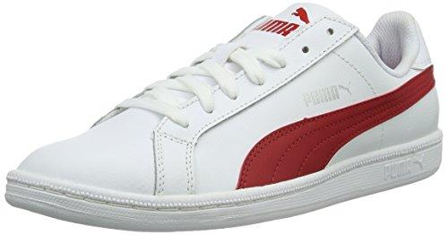 Puma Smash L, Scarpe da Ginnastica Basse Unisex Adulto, Bianco (Puma White/Barbados Cherry 18), 44 EU