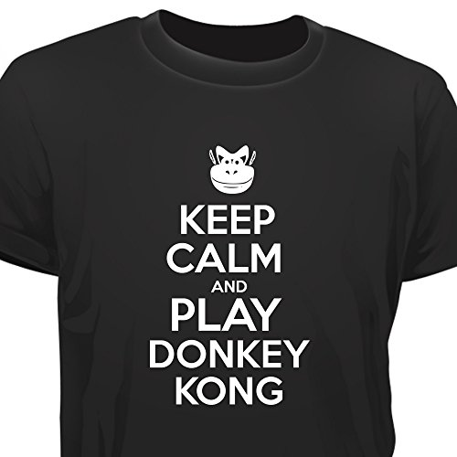 Creepyshirt - KEEP CALM AND PLAY DONKEY KONG T-SHIRT - M