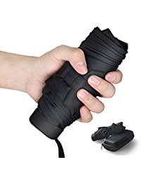 Paraguas Plegable, Mini Paraguas Ultraligero, Ultra Mini, Ultra Protector Doble-Uso Paraguas