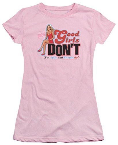 Juniors: Beverly Hills 90210-Good Mädchen T-Shirt Don't Juniors (schmal), Damen, Rose, X-Large