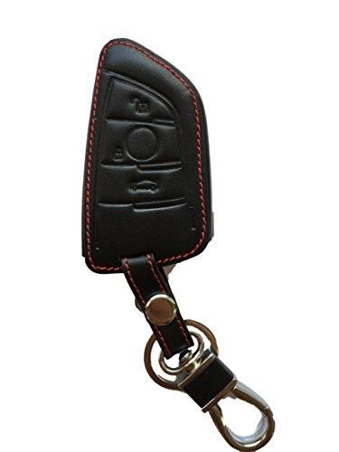 Schlüsseltasche Hülle Etui LEDER – Schutz & Schlüsselanhänger Ersatz - Schlüssel Cover – für 5er G40 X1 F48 X5 F15 X6 F16 2er Active Tourer 7er G11 X3 G01 X2 6er Gran– NEUESTE SCHLÜSSEL-GENERATION