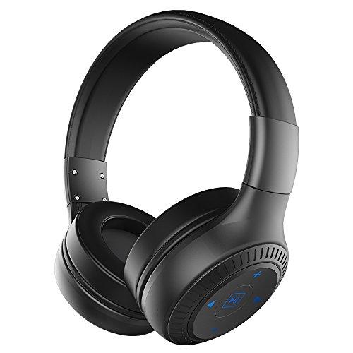 ZEALOT Auriculares Bluetooth B20 Bluetooth Headset 4.1 Auriculares inalámbricos con auriculares con entradas auxiliares de 3,5 mm, función manos libres para dispositivos Bluetooth o teléfonos inteligentes (Negro)