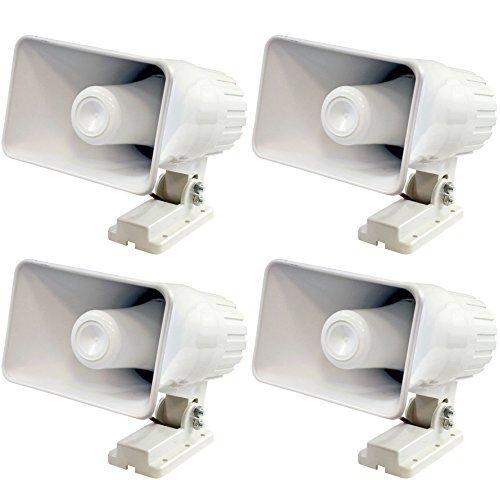 4 Pyle phsp415,2cm 50Watt Indoor/Outdoor Wasserdicht Home PA Horn Lautsprecher, Weiß