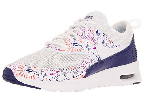 Nike - Wmns Air Max Thea Print, Scarpe sportive Donna Blanco (White / White-Dk Purple Dust)