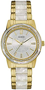 Guess Dress Watch for Women, Stainless Steel Case, White Dial, Analog -W0706L3