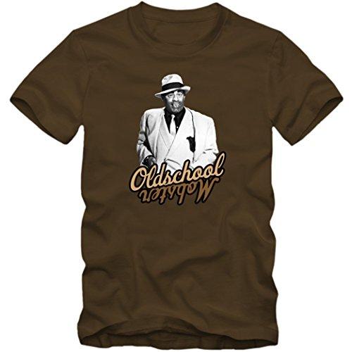 Jerry Lewis #1 T-Shirt |Oldschool Mobster | Kampf gegen die Mafia | Hallo Page! | Slapstick |Fanshirt © Shirt Happenz Braun (Chocolate L190)