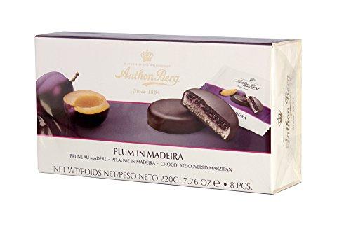 Preisvergleich Produktbild Marzipan-Pasteten mit Füllung und Schokoladenüberzug ANTON BERG - PFLAUME IN MADEIRA (8 Stk. / 220 g) DÄNISCHE SPEZIALITÄT