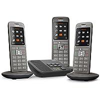 Gigaset CL660A Trio Téléphone fixe sans fil DECT/GAP Répondeur Anthracite