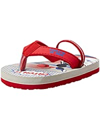 Disney Boy's Light Grey Flip-Flops-10 UK (28 EU) (11 Kids US) (MCPBFF2164_Red)
