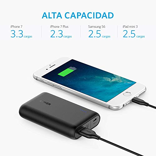 Best anker power bank in India 2020 Anker PowerCore FBA_A1266H11 10000mAH Lithium-ion Power Bank (Black) Image 2