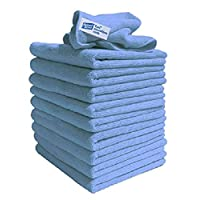 Exel Blue Lint Free Microfibre Super Magic Cleaning Cloths For Polishing, Washing, Waxing And Dusting