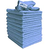 Exel GCC0030-B Rengöringsdukar för Polering, Tvättning, Vaxning och Dammning, Blå, 40 x 40 cm, 10-Pack