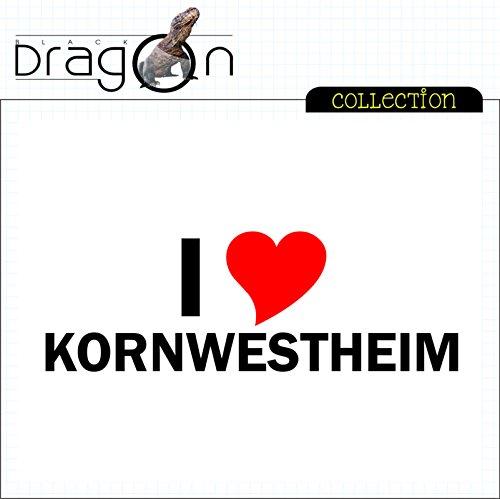 T-Shirt mit Städtenamen - i Love Kornwestheim - Herren - unisex Weiß