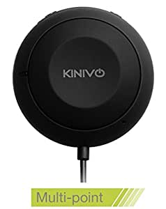Kit viva voce Bluetooth per auto Kinivo BTC455 con ingresso connettore Aux (3,5 mm) - supporta aptX e Connettività Multi-point