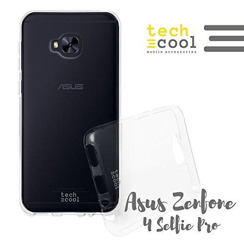 Techcool ASUS Zenfone 4 Selfie Pro ZD552KL Hülle SchutzHülle Premium Soft Flex TPU Silikon Transparent für ASUS Zenfone 4 Selfie Pro ZD552KL l Case, Cover, Handy [Ultra Dünn 1,5mm] [Kratzfest] (Klar)