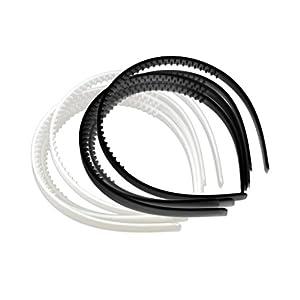 Homyl 10 Stück Kunststoff Stirnband DIY Haarreifen Kopfband Stirnband Schwarz Haarband für Männer Frauen