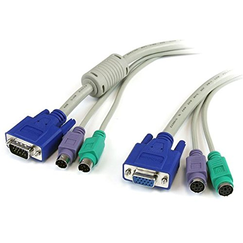StarTech 3N1PS2EXT25 KVM Extension Kabel für Tastatur/Monitor/Maus (7,6m)