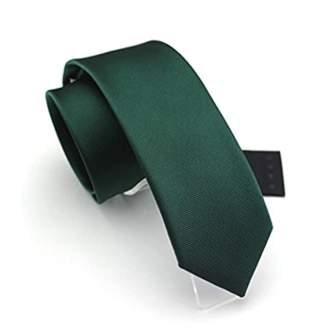 Fan-tastik Mens Eco-friendly Fashion Solid Color Slim Tie 2.4'' ( 6cm ) Emerald
