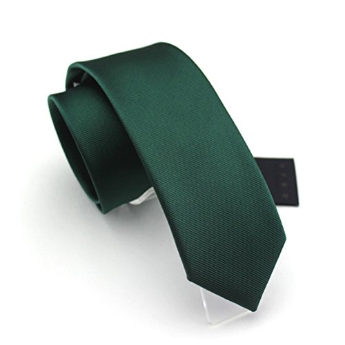 fan-tastik-mens-eco-friendly-fashion-solid-color-slim-tie-24-6cm-emerald