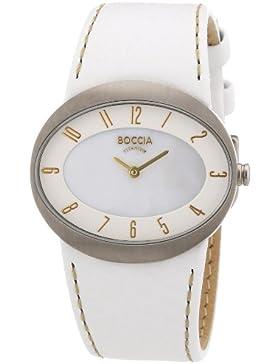 Boccia Damen-Armbanduhr Trend Analog Quarz Leder 3165-09