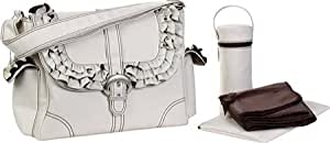 Kalencom Fashion Diaper Bag, Changing Bag, Nappy Bag, Mommy Bag (Miss Prissy Champagne/ Chocolate)