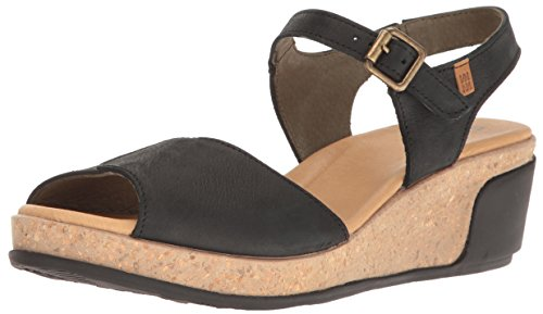 El Naturalista S.A N5000 Pleasant Leaves, Damen Open toe Sandalen, Schwarz (Black), 36 EU -