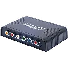 reado HDMI a YPbPr 5RCA Componente RGB AV Adattatore Convertitore 1080P con L/R Audio + Coassiale Uscita Audio per Xbox/PS4/Apple TV/Roku/Fire TV/STB/Blu-ray Lettori Gioco Console (Nero)