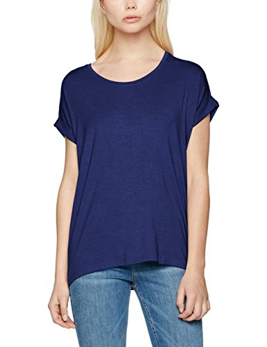 ONLY NOS ONLY Damen T-Shirt onlMOSTER S/S O-Neck TOP NOOS JRS Blau Blueprint, 34 (Herstellergröße: XS)