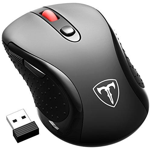 VicTsing - Ratón Óptico Inalámbrico Mini USB y Nano Receptor (2,4 GHz,...