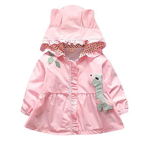 Bellelove☺Baby Kleinkind Mädchen Fallen Winter Nette Giraffe Kleidermäntel Trench Wind Kapuzenjacke Kinder Oberbekleidung