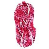 Baoblaze 100g Textilgarn 30m Rolle Stoffgarn Jerseygarn Bändchengarn zum Stricken, Polyester - 5