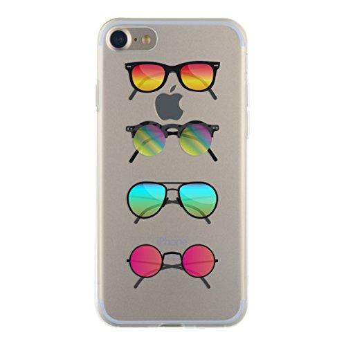 BBC Halbstarre Schutzhülle für iPhone 7Motiv Sonnenbrille Transparent