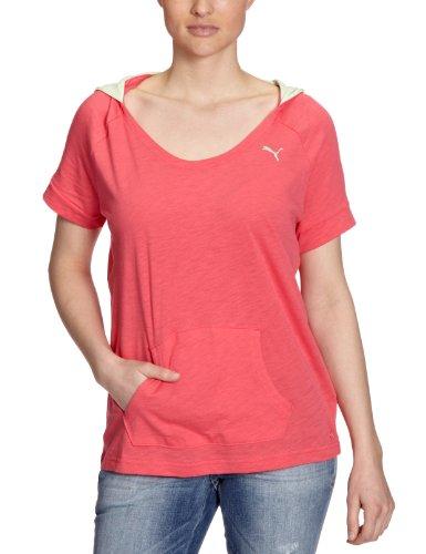 Puma T-shirt léger SS à manches courtes pour femme Rouge chiné