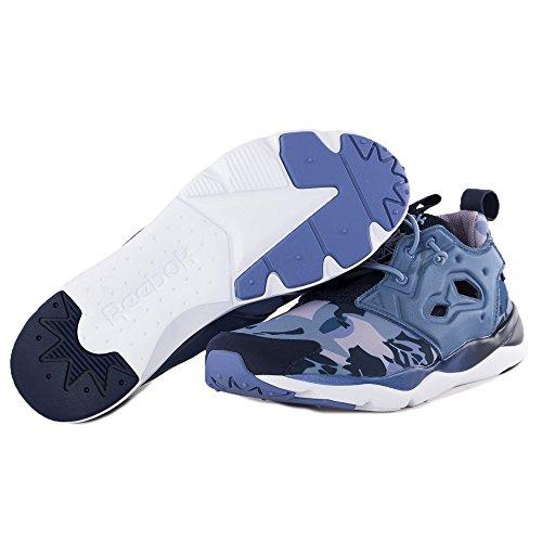 Reebok Classic Furylite Candy Girl Schuhe Damen Sneaker Turnschuhe Blau V68792 Blau-Dunkelblau-Weiß