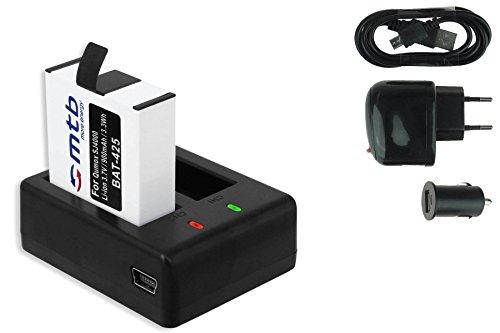 Akku + Dual-Ladegerät (Netz+Kfz+USB) für Qumox SJ4000, SJ4000+, SJ5000, SJ5000+, SJ5000X Elite / SJCam M10(+), X1000 / DBPower EX4000, EX5000 ... s. Liste!