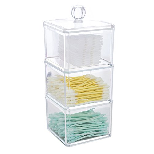 choice-fun-multifunctional-acrylic-makeup-organiser-cotton-ball-storage-with-lid
