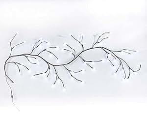 Applique murale LED Blanc Éclairage branche 180cm long mur style shabby chic Décoration 64LED Alimentation Secteur