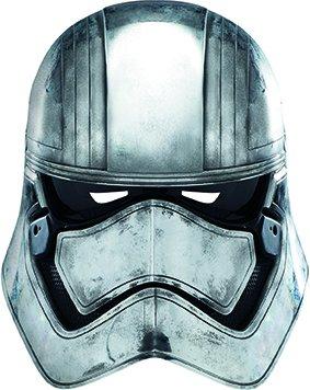 Star Wars Episode 7Captain Phasma Face Maske–Mehrfarbig (Italienischen Girl Kostüme)