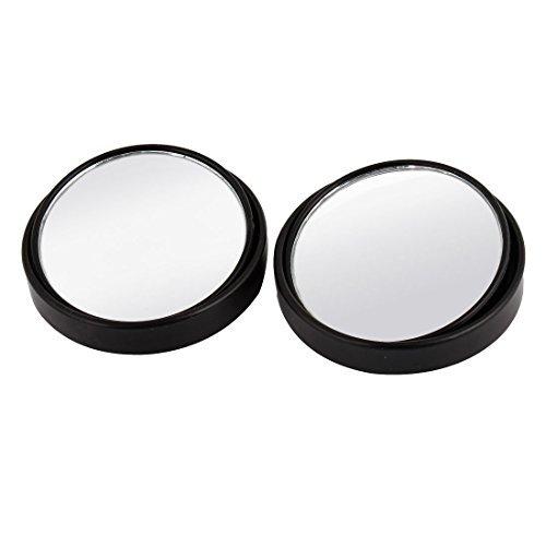 2 Stück schwarz Kunststoffrahmen 55mm Dia Runde blinder Punkt-Spiegel für Auto Blinds 55 Mm