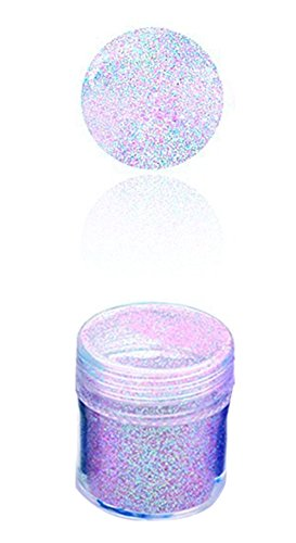 outflower Akkus 10 ml rosa meliert Nail Glitter holographisch Glitters Powder Sheets Tips Nail Art...