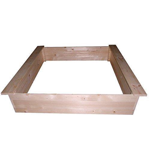 Sandkasten Bausatz 100x100cm, naturbelassen oder lasiert zur Auswahl (lasiert)