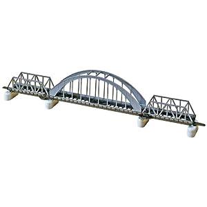 "Faller 222583 Thru Stl Arch Bridge x16 N Scale Building Kit, 16"""