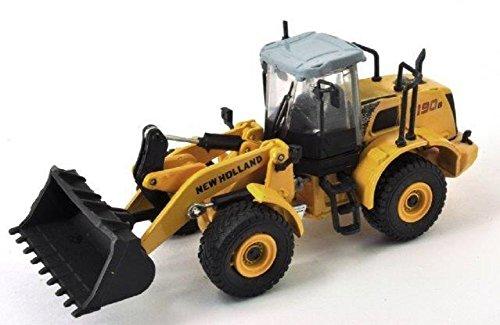 DieCast Metall Miniaturmodell Modellauto 1:87 H0 Baufahrzeug Radlader New Holland W 190B gelb Hobby & Work