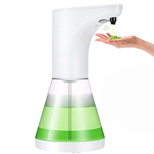 W-Unique Dispensador de Jabón automático, 520 ML, dispensador de Jabón Líquido con Sensor de Movimiento para Cocina y Baño (5 Niveles de Ajuste de Volumen)