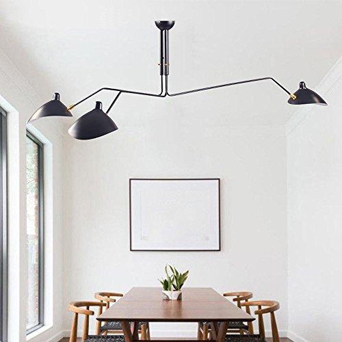 Art Glass Mini-anhänger (DDNL Retro Industriell Deckenleuchte zum Wohnzimmer, Schlafzimmer, Esszimmer, Küche, Flur, Badezimmer, Modern LED Künstlerisch Persönlichkeit Duckbill Lampenschirm Spinne Deckenlampe)