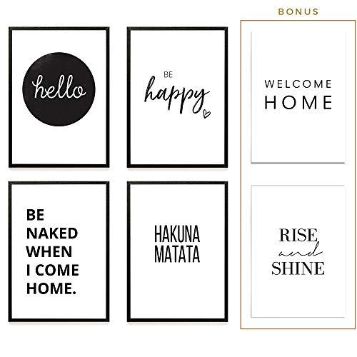 Heimlich® Premium Poster (4 Stück in DIN A4)   Große Auswahl an Motiven im Shop   auch mit Rahmen » Hello «