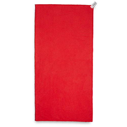 Lumaland asciugamano da viaggio in microfibra ultra leggero e compatto misura: 40x80 cm rosso