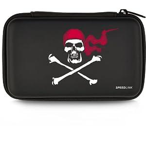 Speedlink Caddy Tasche zur Aufbewahrung für N3DS/NDSi/NDSL (Hartschale mit Innenfächern und Reißverschluss, Piraten-Motiv)
