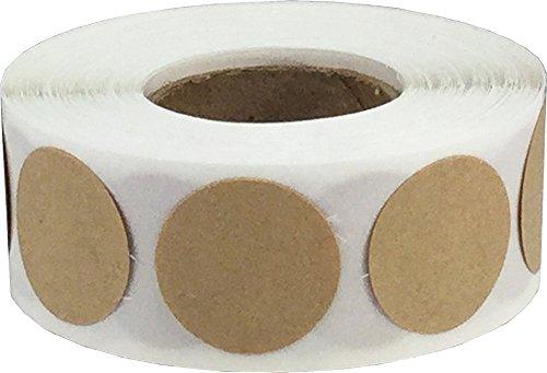 Marrón Kraft Circulo Punto Pegatinas, 19 mm 3/4 Pulgada Redondo, 500 Etiquetas en un Rollo