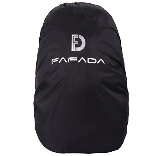 Fafada Wasserdicht Regenschutz Regencover Nylon Regenhülle Raincover Grün Schwarz Orange für Rucksack Backpack in 15-55L (Schwarz (S 15-30L))